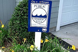 Newport Harbor Walk Sign