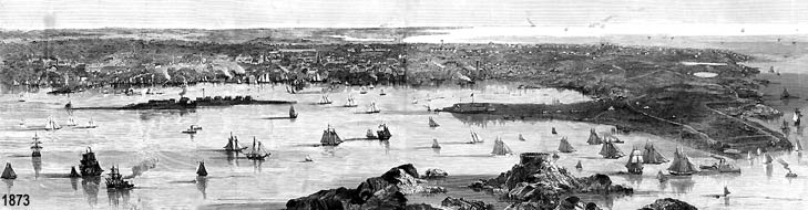 Newport Harbor Walk Image from 1873